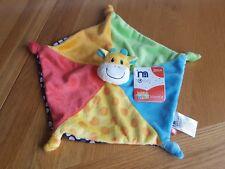 Mothercare Giraffe Baby Safari Comforter/Blankie/Dou Multicoloured Blanket BNWT