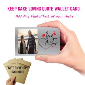 Personalised Valentines Anniversary Gift Boyfriend Husband Wife Wallet Insert