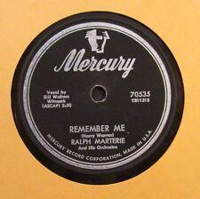 Ralph Marterie / Remember Me / Blue Mirage / 78 Rpm Record