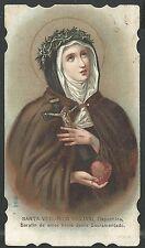 Holy card antique de Santa Veronica Juliani estampa santino image pieuse