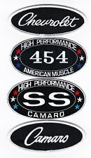 CHEVY 454 SS CAMARO SEW/IRON ON PATCH EMBLEM BADGE EMBROIDERED