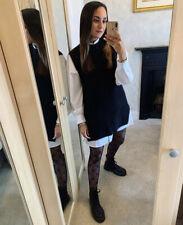 H&M Conscious Rib Knit Slipover Vest Jumper Black Size XS SOLD OUT Bloggers Fave