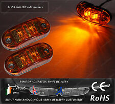 LED Amber Jeep Truck Trailer 12v 24v Side Markers Position Lights DOT E Mark