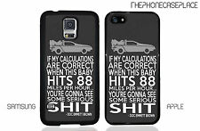 Back to The Future Doc Doctor Emmit Brown Delorean DMC Quote Phone Case Cover!