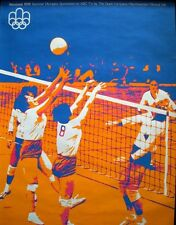 MONTREAL 1976 SUMMER OLYMPICS VOLLEYBALL vintage poster. SUPERB Art NM