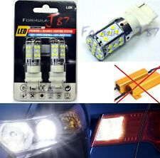 Canbus Error Free LED Light 3156 White Two Bulbs Rear Turn Signal Replace Lamp