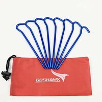 8Pcs 18cm Aluminum Alloy Outdoor Camping Tent Peg Ground Nail Stakes