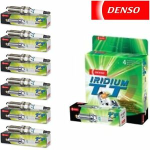 6 Pack Denso Iridium TT Spark Plugs for Saturn Outlook 3.6L V6 2007-2010 Tune