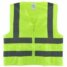 Small 2 Pockets Yellow Safety Vest With Reflective Strips Ansiisea