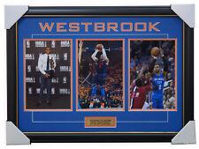 Russell Westbrook Signed Oklahoma City Thunder NBA Collage Framed+ COA NBA MVP