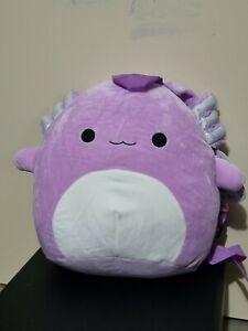 Squishmallows Monica Axolotl Backpack 12 inch Plush Genuine Kellytoy