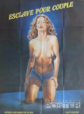 ESCLAVAGE POUR COUPLE - NAKED WOMAN / X RATED - ORIGINAL LARGE MOVIE POSTER