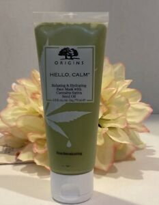 Origins Hello Calm Relaxing + Hydrating Face Mask 2.5oz Authentic Fast/Free Ship