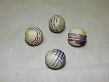 "Set Of 4 Antique Clay Carpet Balls ""AKA"" Carpet Bowls Marbles Scotland"