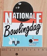 Sticker / Autocollante / Aufkleber / Decal +/- 1980 Nationale Bowlingdag