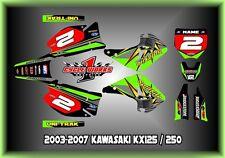 Kawasaki KX125-250 03-13  SEMI CUSTOM GRAPHICS KIT SPLITFIRE 05