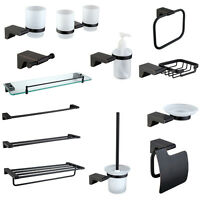 Oil Rubbed Bronze Bathroom Accessories Set Paper Holder Towel Shelf Wall Mounted