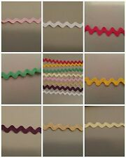 """5 YDS RICK RACK TRIM -1/2"""" 9 COLORS TO CHOOSE FROM-PINK, WHITE, YELLOW, RED, TAN"""