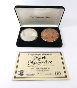 Highland Mint Mark McGwire Copper/Silver 2 Coin Set 1/2 Troy Pound Silver #/250