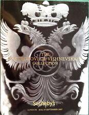 Sotheby's Catalog ROSTROPOVICH VISHNEVSKAYA COLLECTION 9/2007 LONDON