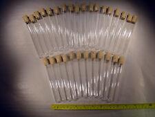 30 x Reagenzglas ohne Rand + Korken aus Glas Länge 130 mm x Aussen Ø 16 mm R11+K