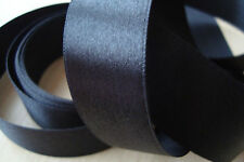 ** Satin Ribbon, Black Colour 25mm x 3 Mtres**