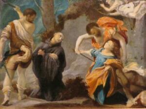 17th / 18th Century ITALIAN SCHOOL original FINE oil painting RELIGIOUS SCENE