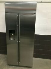 "GE Monogram ZISS360DKSS 36"" Stainless Steel Built-In Side-By-Side Refrigerator"