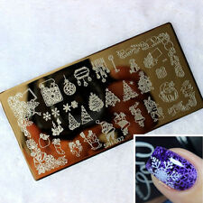 LC_ Nail Art Image Christmas Holiday Stamp Stamping Plate Manicure Template Li