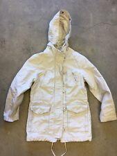 Gap Women's Sz S Jacket Winter Heavy Field Tan Khaki Cotton Coat Hood Duffle