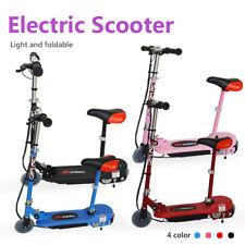 Elektroroller Kinder 120W Batterie Rutscher Ständer E-Scooter Gratis Knie Pad