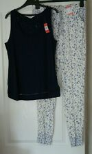Ladies PRIMARK Pyjamas Bottoms and Vest Top Set Size Small S 10/12 SS19  BNWT