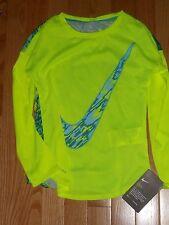 "NWT - Nike long sleeved neon green & teal ""dri fit"" top - 4 girls"