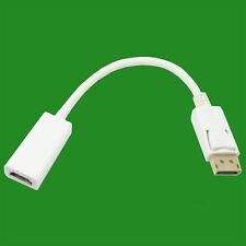 White 1m DisplayPort 1.2 to HDMI Monitor PC TV Adaptor Converter Cable