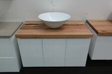 Integra 900 Wall Hung Vanity featuring Wormy Chestnut Timber Bench Top