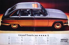 PUBLICITÉ 1970 RENAULT 16 TS CLASSE LUXE GRAND TOURISME CONFORT SIÈGES CUIR