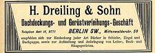 H.Dreiling Berlin DACHDECKER & GERÜSTVERLEIHER  Historische Reklame von 1896