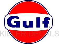 "6"" GULF GASOLINE GAS PUMP OIL TANK DECAL"