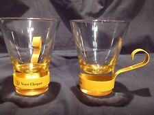 VEUVE CLICQUOT CHAMPAGNE GLASSES(SET OF 2)PROMO-FRANCE-CASABLANCA-RARE-