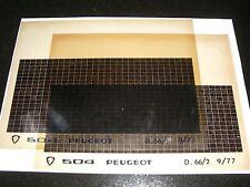 Ersatzteil Mikrofilm Planfilm Microfiche Peugeot 504 v. September 1977