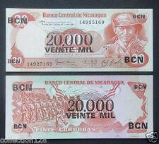 Nicaragua 20,000 on 20 Cordobas BANKNOTE UNC