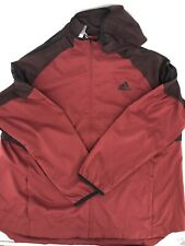 NEW Mens 2XL Adidas Hood Windbreaker Jacket Maroon DU9489