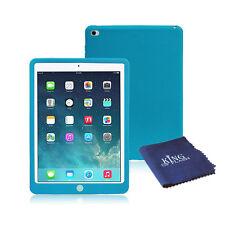 Caucho de silicona a prueba de impactos Cubierta Estuche Para iPad 2 + Paño De Microfibra Azul Air