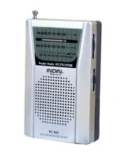 Portable Radio AM/FM Receiver Mini Pocket Aerial Radio Player Loud Voice -Silver