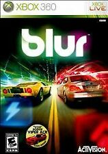 "XBOX 360 LIVE BLUR RATED ""E"" CASE MANUAL AND DISC PRE-OWNED"