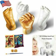 3D Handprint Footprint Baby Mould Plaster Hand Foot Casting Print Kit Cast NEW!!