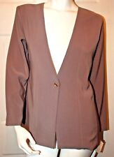 Be Big Grinn Light Brown Design Jacket Sz M 95CMS NWT