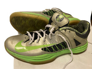 Nike Mens Hyperdunk Low Gray Electric Green Shoes Size 12554671-004