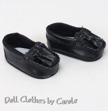"Black Tasseled Loafers fit 18"" American Girl Doll - Boy Dress Shoes"