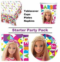 Barbie Sparkle 8-48 Guest Starter Party Pack - Cups, Plates, Napkins, Tablecover